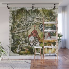 White Rabbit Wall Mural