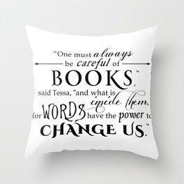 Words Have the Power to Change - Tessa (White) Throw Pillow