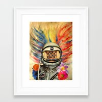nasa Framed Art Prints featuring NASA Messed Me Up by Collage Calamity