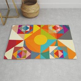 Camahueto - Abstract Colorful Shapes Rug