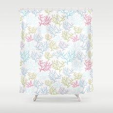 Pink Corals Shower Curtain