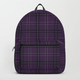 Purple buffalo plaid Backpack