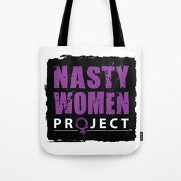 Nasty Women - Square Logo - Black Tote Bag