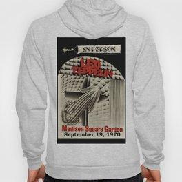 1970 Zeppelin at Madison Square Garden in New York Concert Poster Hoody