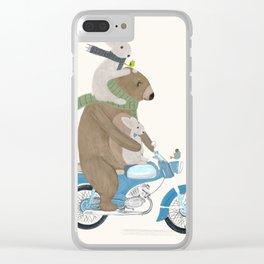 biker buddies Clear iPhone Case