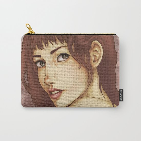 Red Feminine Girl Carry-All Pouch