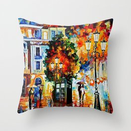 Tardis In The City Throw Pillow