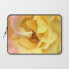 Summer Rose in Pink and Yellow Laptop Sleeve