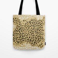 Golden Leopard Tote Bag