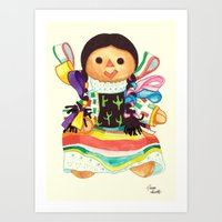 Tex Mex Dollz Art Print