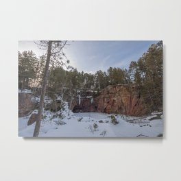 Northern Minnesota Frozen Quarry Landscape Metal Print