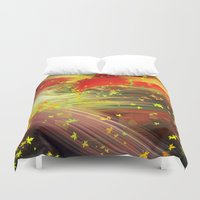 camus Duvet Covers featuring Fall In Love by Geni