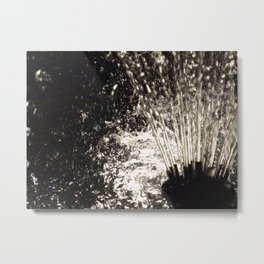 Glow Fountain Metal Print