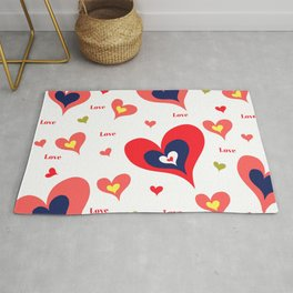 The hearts of Saint Valentines' Day Rug