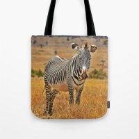 zebra Tote Bags featuring Zebra by minx267