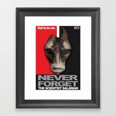 NEVER FORGET - Mordin Solus- Mass Effect Framed Art Print
