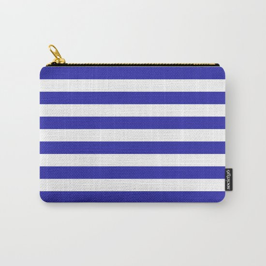 Stripes (Navy & White Pattern) by luxelab