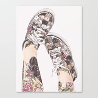 shoes Canvas Prints featuring Shoes by Carlos ARL