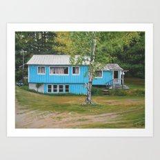 Teal House Art Print
