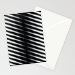 op art - horizontal triangles Stationery Cards