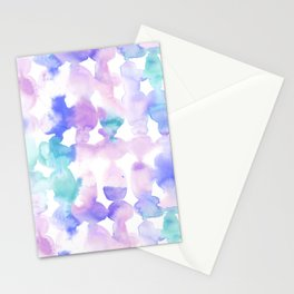 Dye Ovals Pink Turquoise Stationery Cards