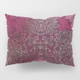 lace weave in red wine Pillow Sham