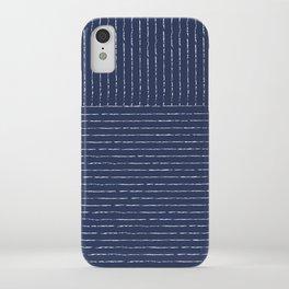Lines (Navy) iPhone Case