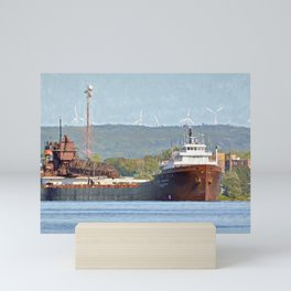 Lee Tregurtha Freighter Mini Art Print