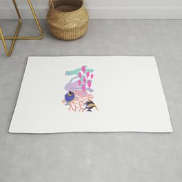 colorful fish and coral Rug