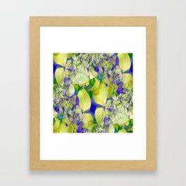 Green Violets Seamless Fractal - IA Framed Art Print