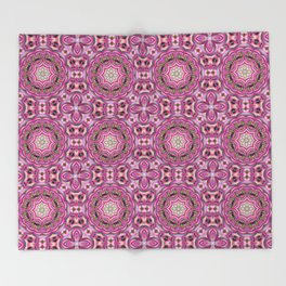 Pink-and-olive relish . Ornament Throw Blanket