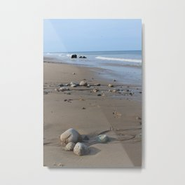 Rocks-Nauset Beach Metal Print