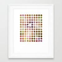 dot Framed Art Prints featuring Dot by Jeanette Nilssen