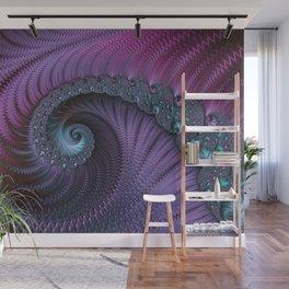 Fantastic Fractal Fantasies Purple And Teal Wall Mural