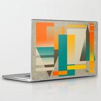 metropolis Laptop & iPad Skins featuring METROPOLIS   orange by Cheryl Daniels