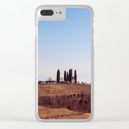 Winter morning in the vineyards of Collio, Italy Clear iPhone Case
