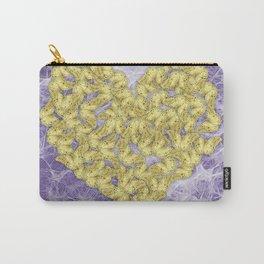 Gold butterflies on ultraviolet fractal texture Carry-All Pouch