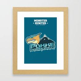 Monster Hunter All Stars - Pokke Permafrosts  Framed Art Print