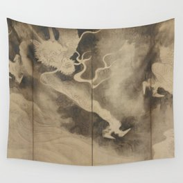 Dragons and Clouds by Tawaraya Sotatsu (俵屋 宗達) Wall Tapestry