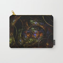 Wormhole Flame Fractal Carry-All Pouch