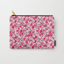 Ginkgo Leaves in Vibrant Hot Pink Tones Carry-All Pouch
