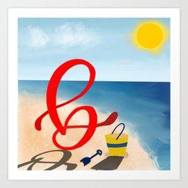 Baby B at the Beach Art Print