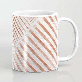 Blush Pink Stripes, Geometric Art Coffee Mug