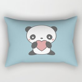 Kawaii Cute Panda Bear Rectangular Pillow