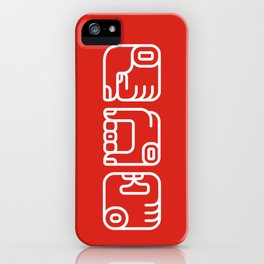 Mayan Glyphs ~ Hands iPhone Case