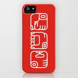 Mayan Glyphs ~ Hands iPhone Case