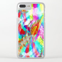 Clever Tiger Geometric 2 Clear iPhone Case
