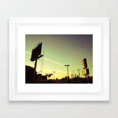Chemtrail Sunset Framed Art Print