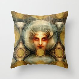 """Art Deco Retro The Chimera"" Throw Pillow"