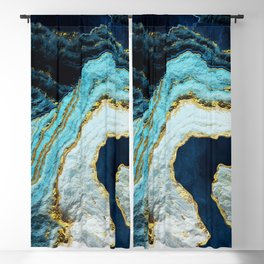 Aerial Ocean Abstract Blackout Curtain